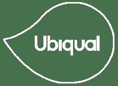 Logo ubiqual solo trazado blanco sin fondo