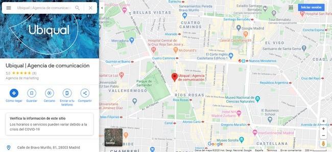 Negocio en Google Maps